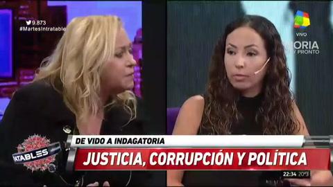 Duro cruce entre Claudia Bello y Natalia Volosín en Intratables