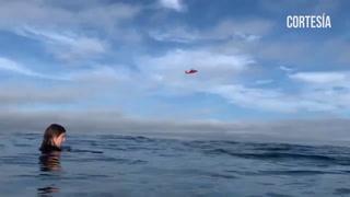 Sobrevivientes de un accidente aéreo graban su  rescate en mar de EEUU