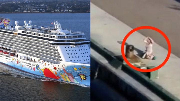 Cruiseskipet reiste da moren sto igjen på kaia