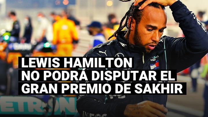 Lewis Hamilton dio positivo por coronavirus y se perderá el Gran Premio de Sakhir