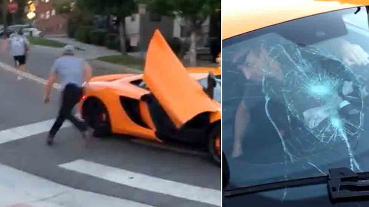 Tenåring knuste sportsbil da føreren tutet