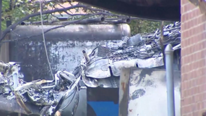 Military jet crashes in residential Texas injuring two pilots