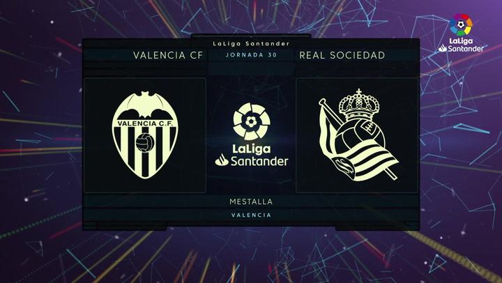 LaLiga (J30): Resumen y goles del Valencia 2-2 Real Sociedad