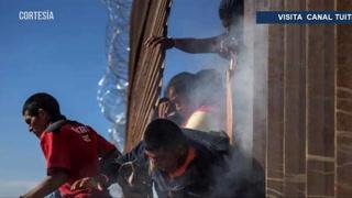 Agentes de Estados Unidos lanzan gas a centroamericanos