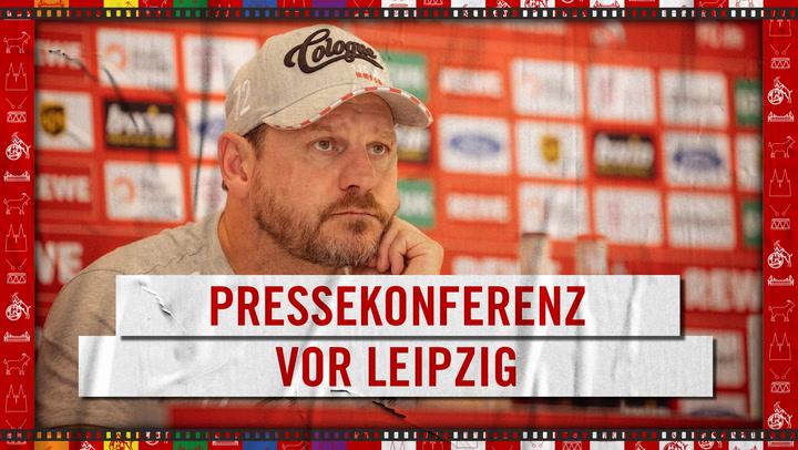 Pressekonferenz vor Leipzig
