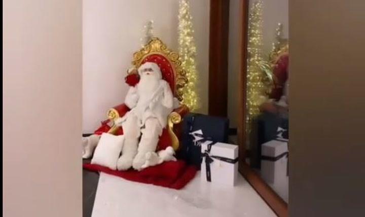 Así han decorado Georgina y Cristiano la casa para la Navidad