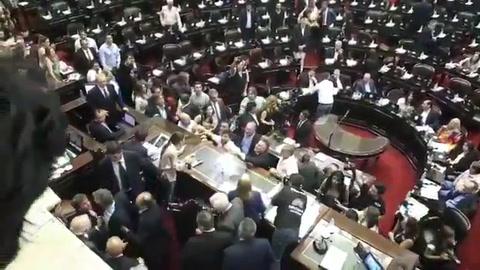 Tras el escándalo en el recinto, se levantó la sesión en la Cámara de Diputados