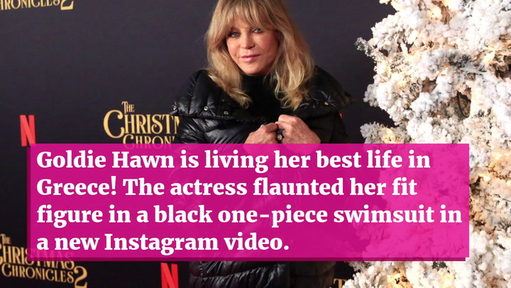 Goldie Hawn, 75, Looks Amazing Dancing In A Swimsuit For 'Mamma Mia' Video