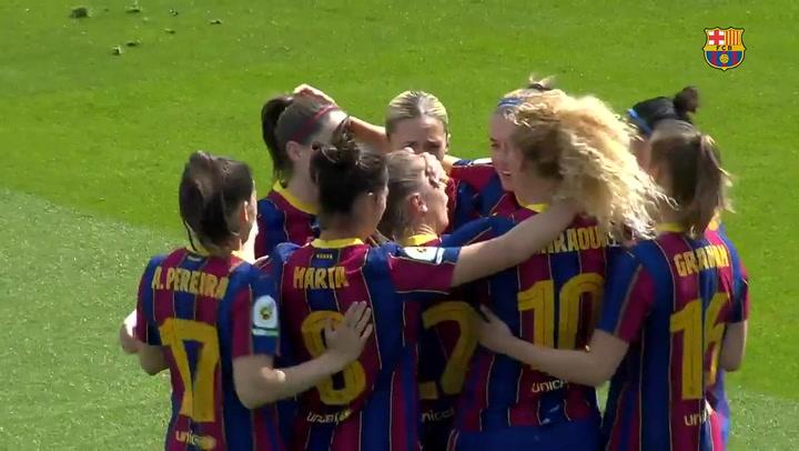El Barça femenino golea 9-0 al Deportivo