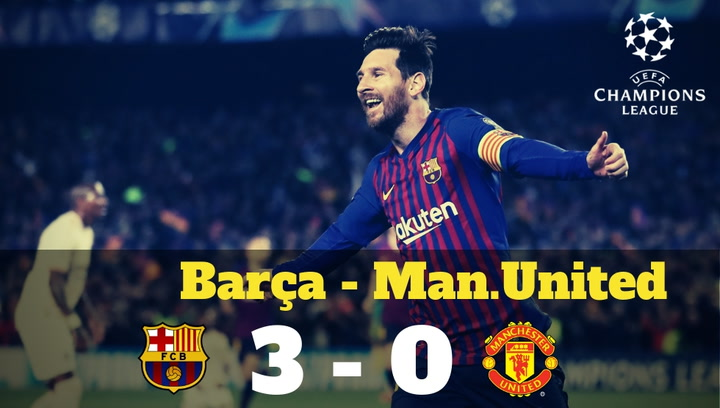 Champions League: Resumen del Barça-Manchester United (3-0)