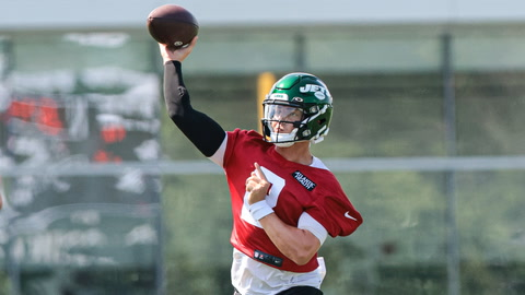 How was Zach Wilson's much-anticipated first day at Jets camp?