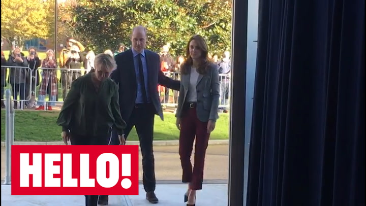 Kate Middleton and Prince William visit crisis centre after launching Shout messaging helpline.