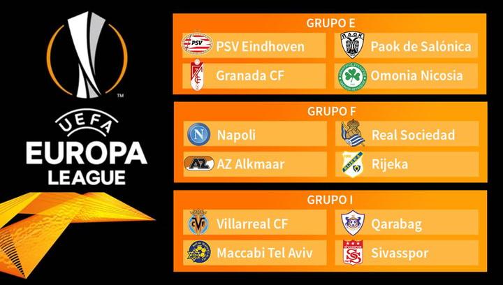 Así ha sido el sorteo de grupos de la UEFA Europa League