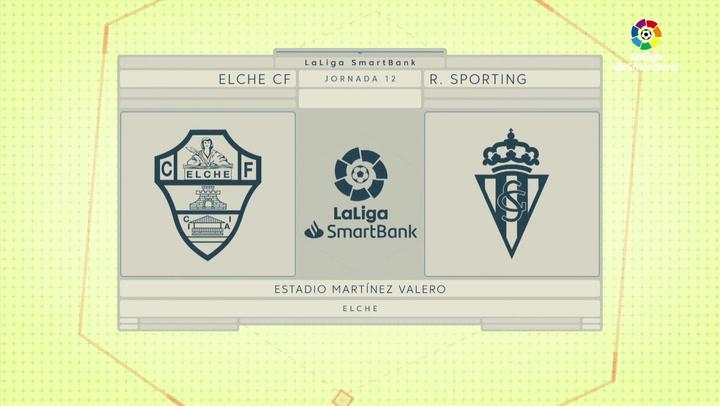 LaLiga SmartBank (J12): Resumen y gol del Elche 0-1 Sporting