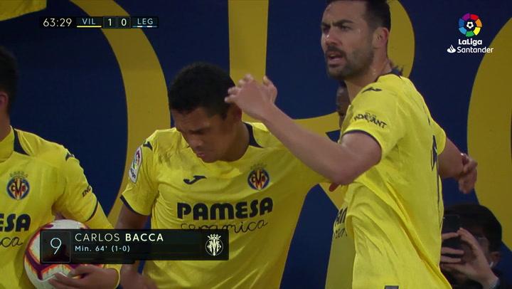 LaLiga: Villarreal - Leganés. Gol de Carlos Bacca en el minuto 64 (1-0)