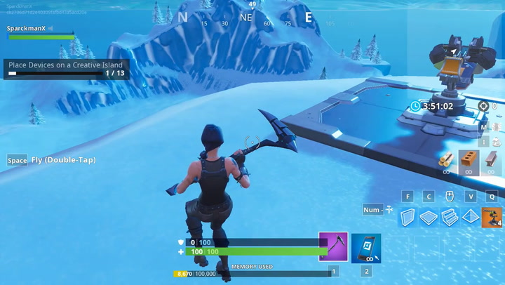 fortnite place devices on creative island how to complete challenge 13 inverse - how to use creative mode fortnite