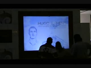 Hugo Boss uses interactive digital signage to launch perfume