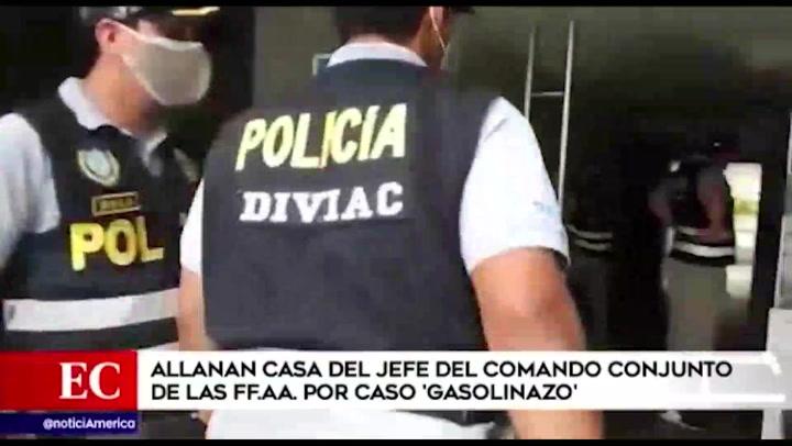 Allanan domicilio del jede del Comando Conjunto de las FF. AA. por caso Gasolinazo