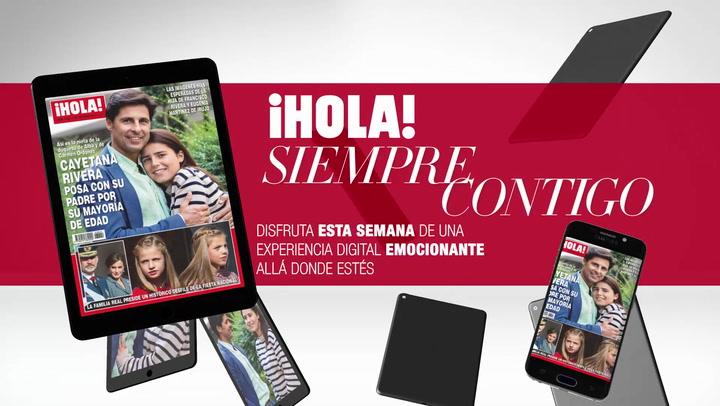 Ya puedes disfrutar en tu tablet y tu móvil del nuevo número de la revista ¡HOLA! con vídeos y contenido extra