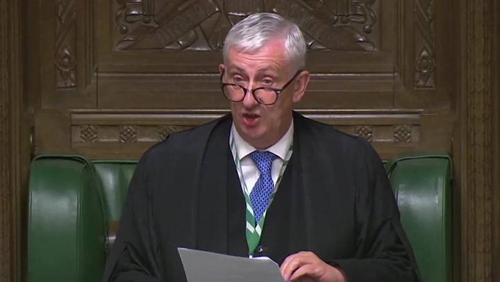 Hoyle rebukes government for failure to address MPs before lockdown announcement