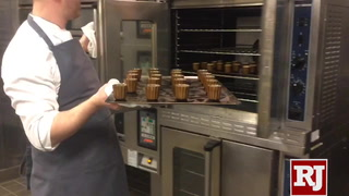 New caneles pastries served at tea at Waldorf Astoria Las Vegas