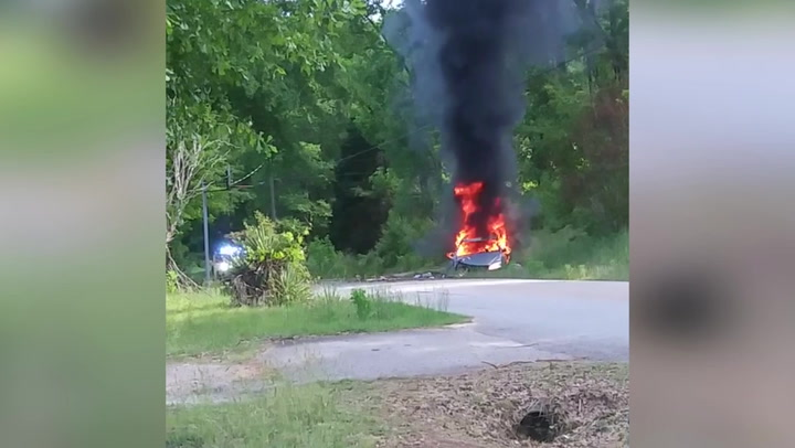 Woman sets herself on fire and Hummer explodes as drivers hoard gas amid Colonial Pipeline fallout