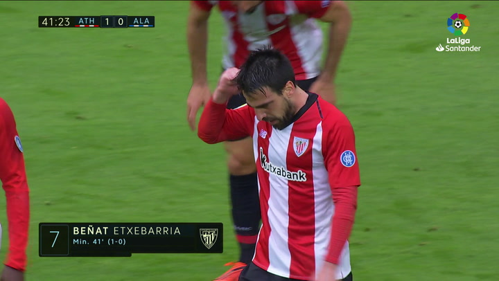 LaLiga: Athletic Club-Alavés. Gol de Beñat (1-0)