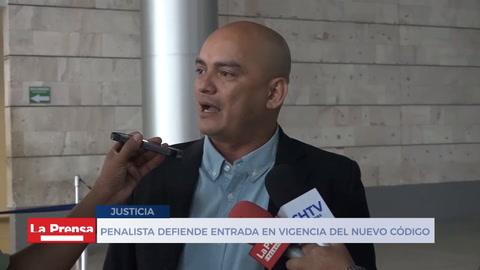 Penalista defiende entrada en vigencia del nuevo código penal