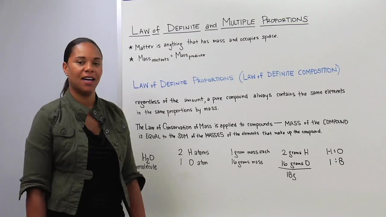 Law of Definite Proportions Law of Multiple Proportions – Law of Definite and Multiple Proportions Worksheet
