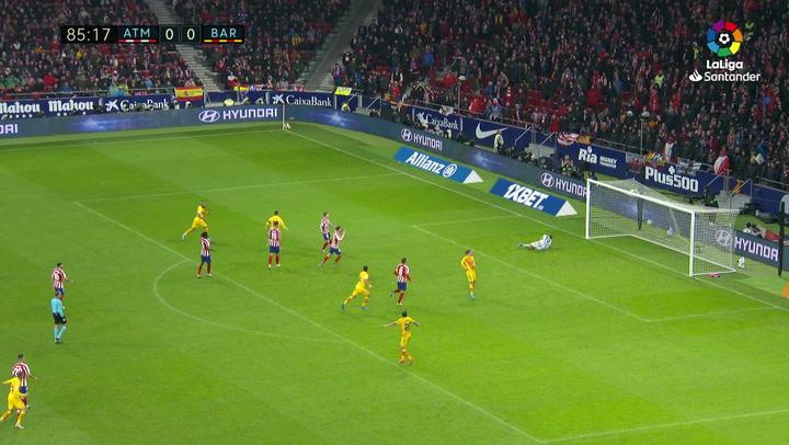 Gol de Messi (0-1) en el Atlético de Madrid 0-1 Barcelona
