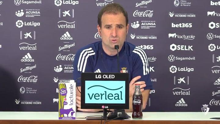 """Jagoba Arrasate: """"Necesitamos más puntos y queremos ganar"""""""