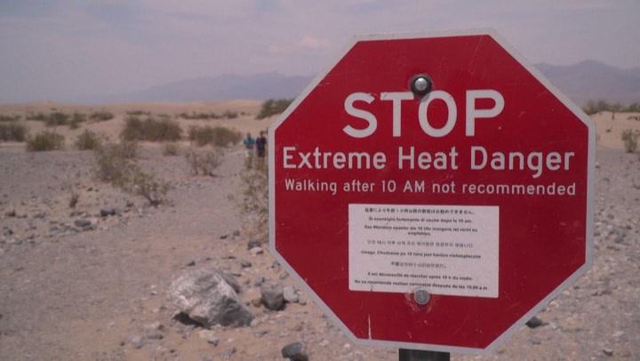 Death Valley cooks under extreme heat