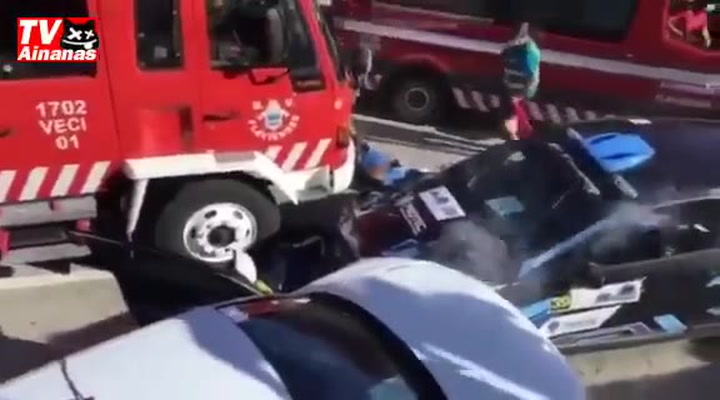 Grave accidente en el rallye de Alto Tamega