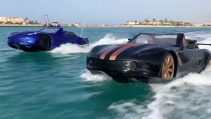 Three Egyptian friends design a car-like jetski that can drive on water
