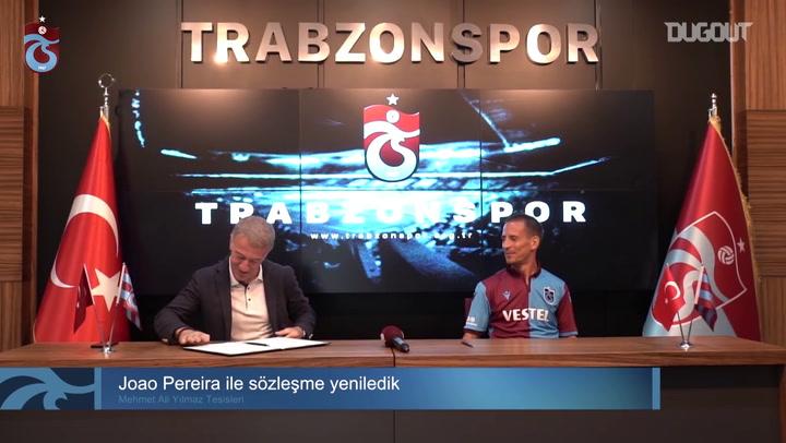 Trabzonspor Joao Pereira İle Sözleşme Yeniledi