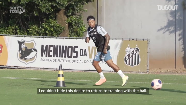 Marinho talks about his recovery from injury at Santos