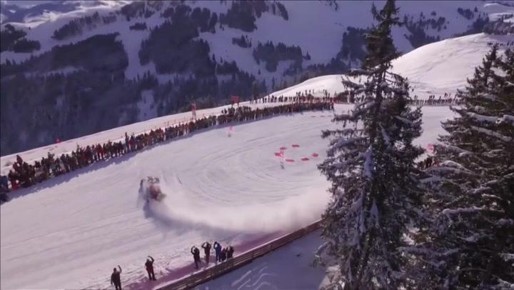 Kjørte Formel 1-bilen i bratte skibakker