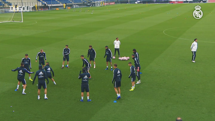 Santiago Solari's First Training Session As Real Madrid Boss