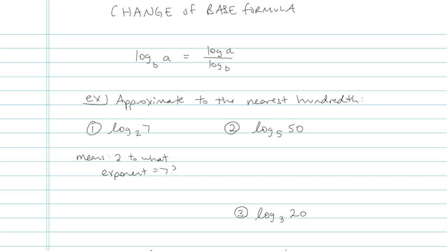 Change of Base Formula - Problem 2