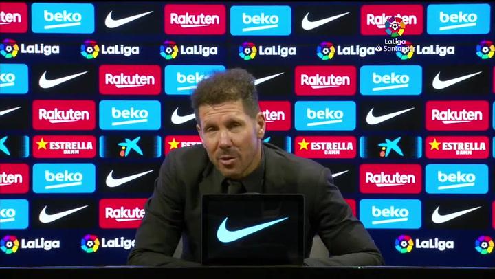 El motivo por el que Simeone no verá el Real Madrid-Sevilla