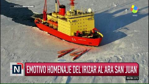 Emotivo homenaje del Irizar al Ara San Juan