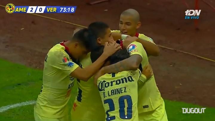 Emanuel Aguilera's brace vs Veracruz
