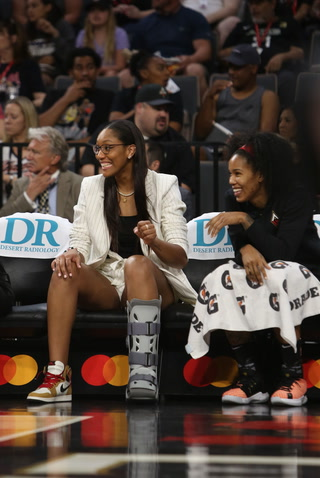"Las Vegas Aces' A'ja Wilson could be out for ""weeks"" – Video Highlights"
