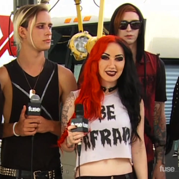 New Years Day Talks On Stage & Everyday Style at Warped Tour 2013