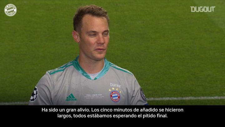 La alegría de Neuer y los elogios de Tuchel tras la final