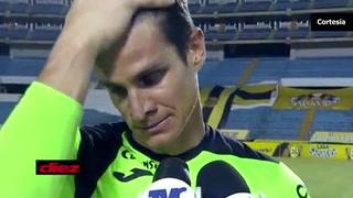 Jonathan Rougier rompió en llanto tras el partido ante Real España