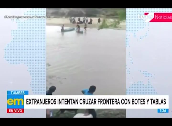 Tumbes: extranjeros intentaron cruzar la frontera con botes