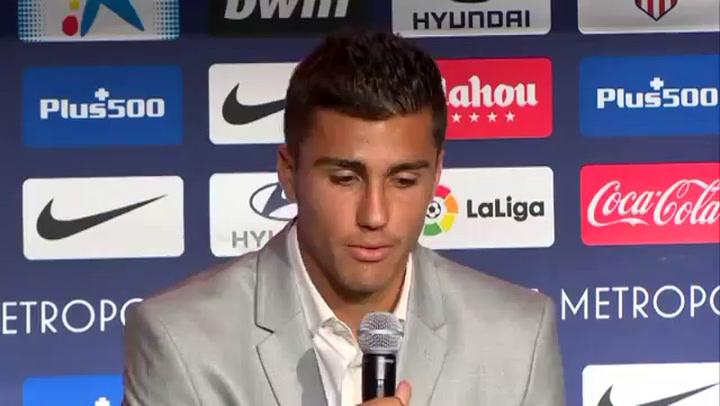 Presentación de Rodrigo, fichaje del Atlético de Madrid (20/07/2018)