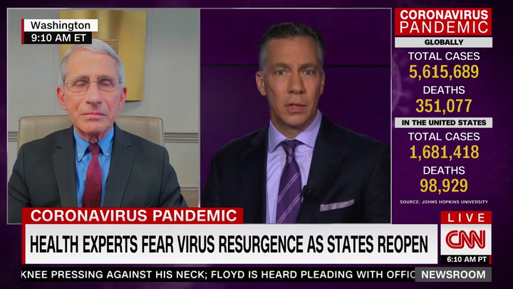 Fauci: Second Wave of Coronavirus 'Not Inevitable' -- 'Feeling Better About' Preventing It