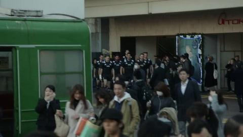 Imperdible publicidad de los All Blacks de Nueva Zelada en Japón para el Mundial de Rugby